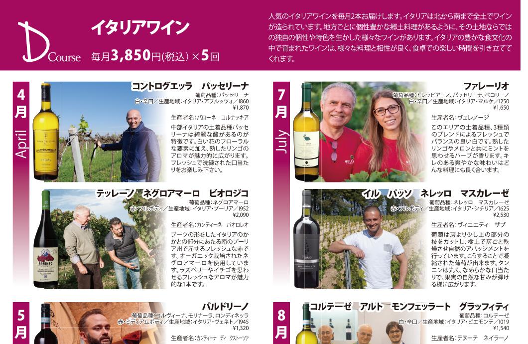 Dコース:イタリアワイン